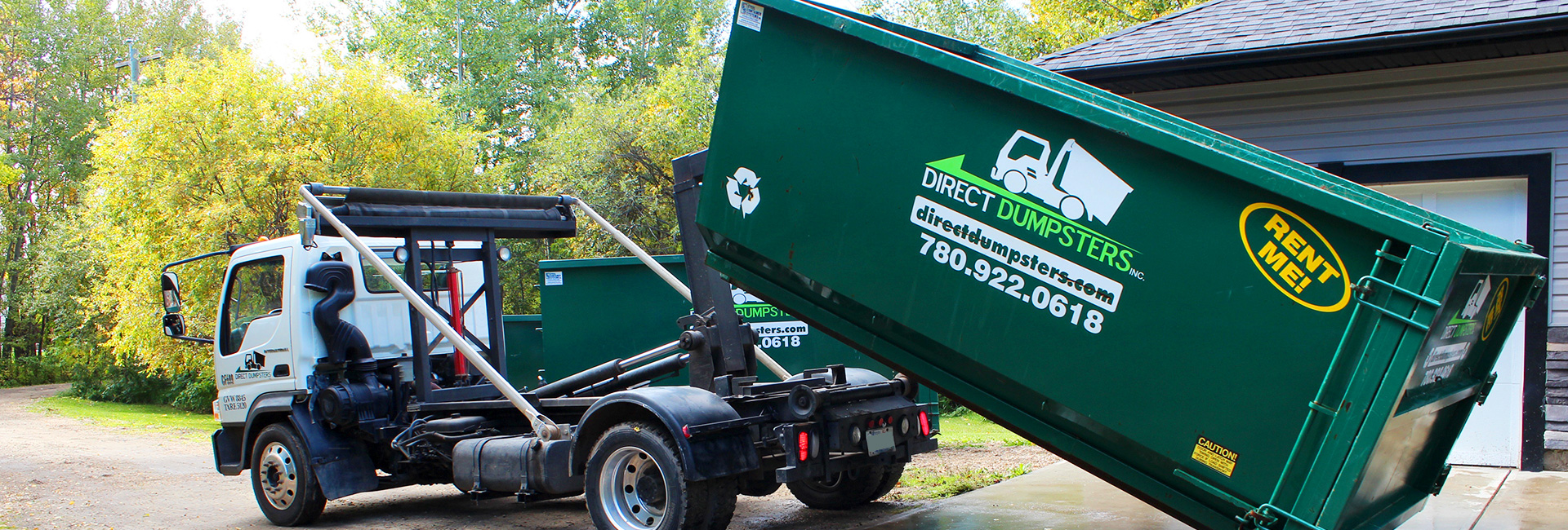 Direct Dumpsters offers different sizes of Garbage Bins